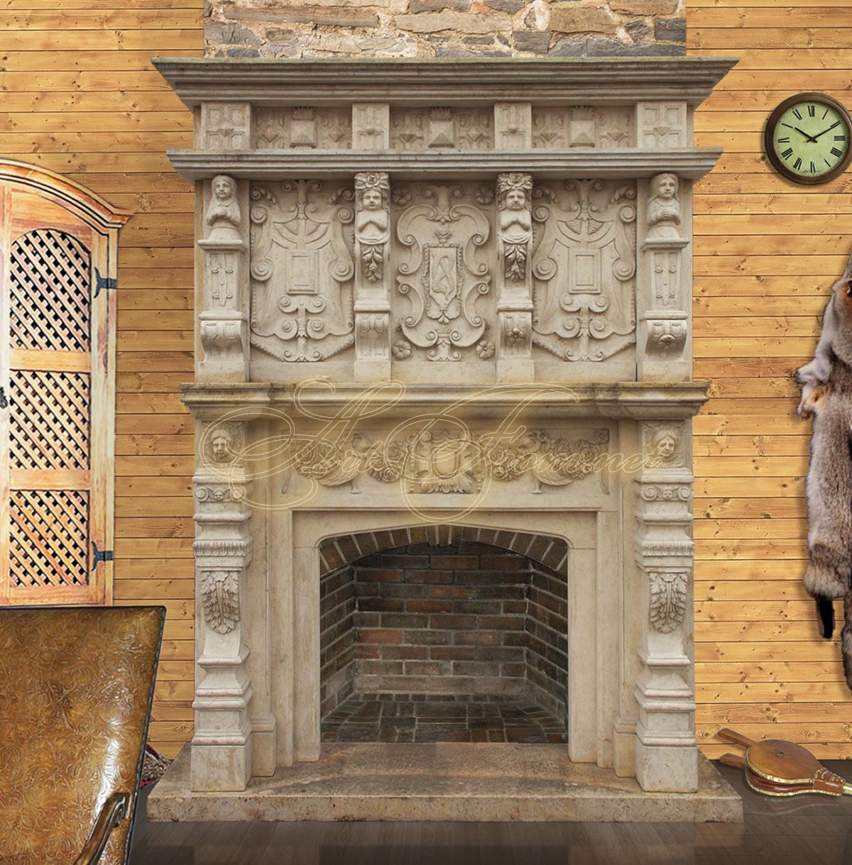 Камин венеция двойные высокие